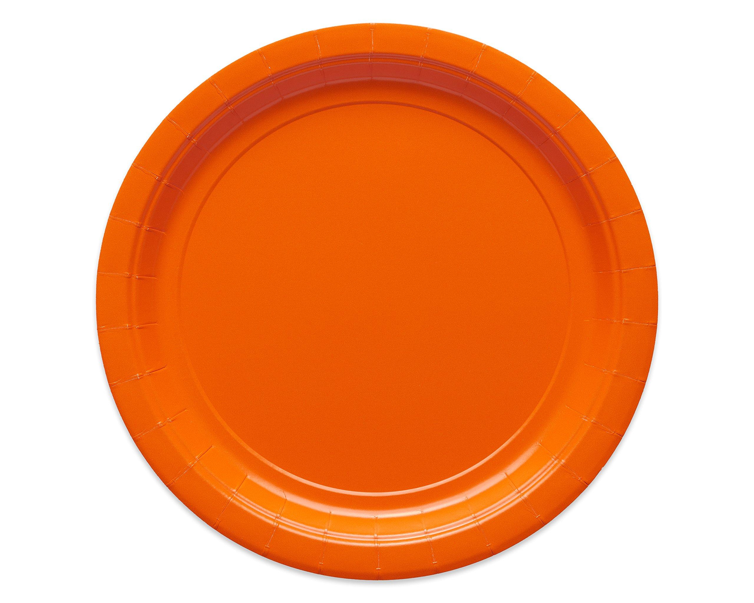 American Greetings Large Paper Plate, Orange