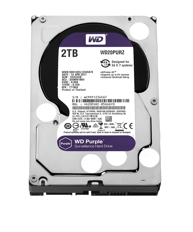 WD Purple (WD20PURZ) 2TB Surveillance Hard..