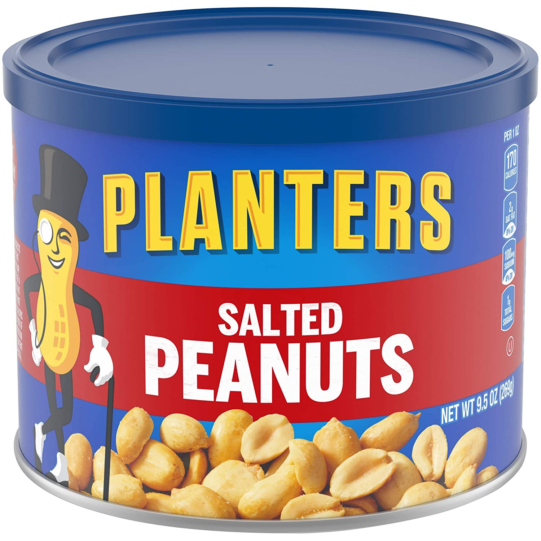 Planters Salted Peanuts (9.5 oz Jars, Pack of 6)