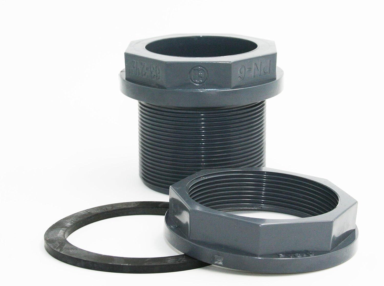 jardiboutique Travers/ée de paroi en PVC pour Tuyau Diam/ètre 75 mm ou Filetage 3