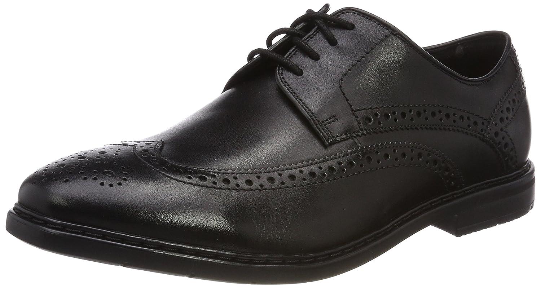 Clarks Banbury Limit, Zapatos de Cordones Brogue para Hombre 46 EU Negro (Black Leather -)