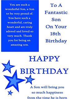Cool Son 21St Birthday With Removable Laminate Amazon Co Uk Office Funny Birthday Cards Online Fluifree Goldxyz