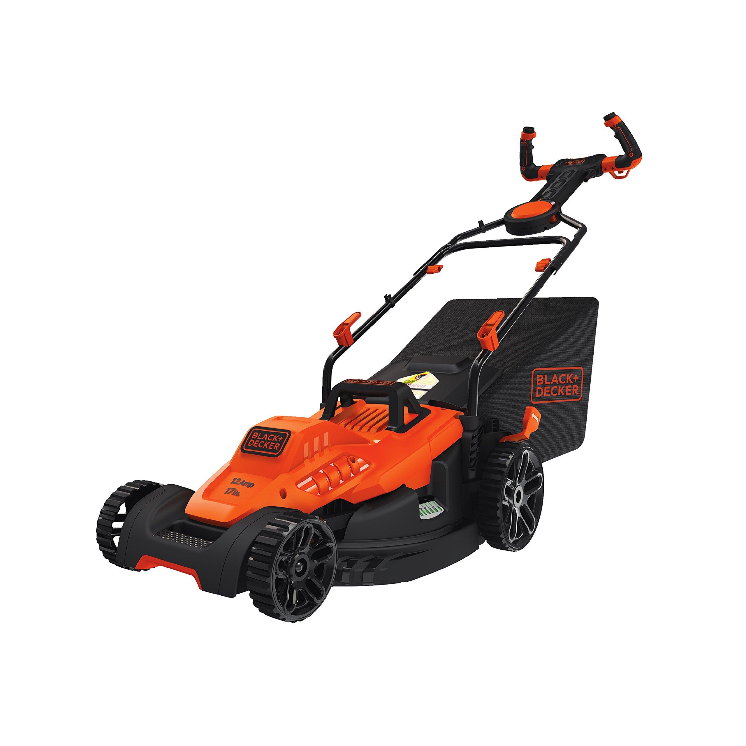 BLACK+DECKER BEMW482ES Electric Mower 17'' Lawn Pivot Control Handle