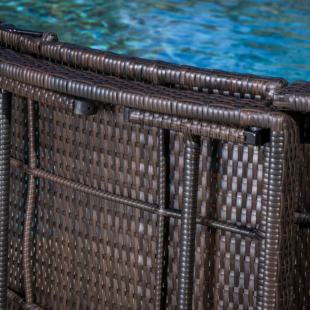 Outdoor pool chaise lounge chair pe wicker patio furniture adjustable - Amazon Com Maureen Outdoor Multibrown Pe Wicker Folding Chaise Lounge Chair Patio Lawn Garden