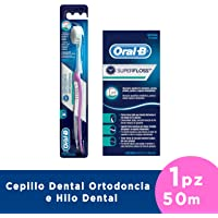 Oral-B Cepillo Ortodoncia y Hilo Dental Super Floss, 50 m