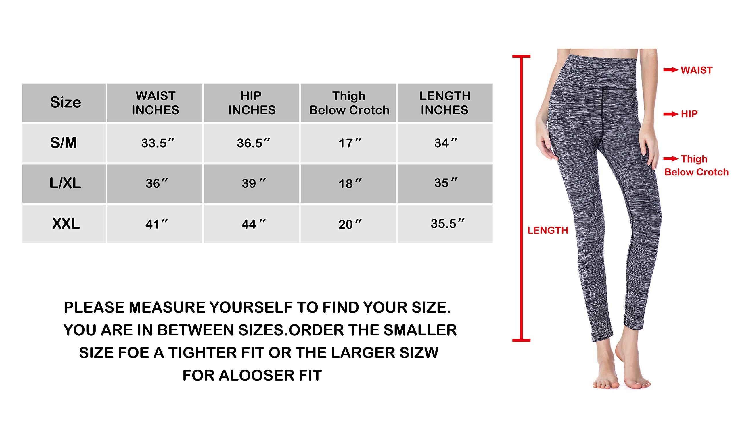7cb0060157 Tirrinia Women Power Stretch Yoga Leggings Pants Plus Size High Waist  Workout Activewear Tights for Yoga