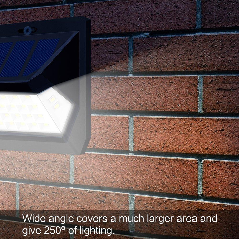 Solar Motion Sensor Lights OTHWAY Bright Outdoor Waterproof Wall Lights Wide Lighting Area Easy Installation Great Detection Range Security Lights