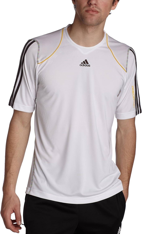 adidas Predator – Camiseta de Estilo 2010 Climacool, Hombre, D, White/Dark Brown/Pure Yellow: Amazon.es: Ropa y accesorios