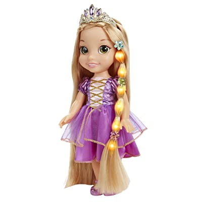 Disney Tangled Glow & Style Rapunzel Toddler Doll: Toys & Games