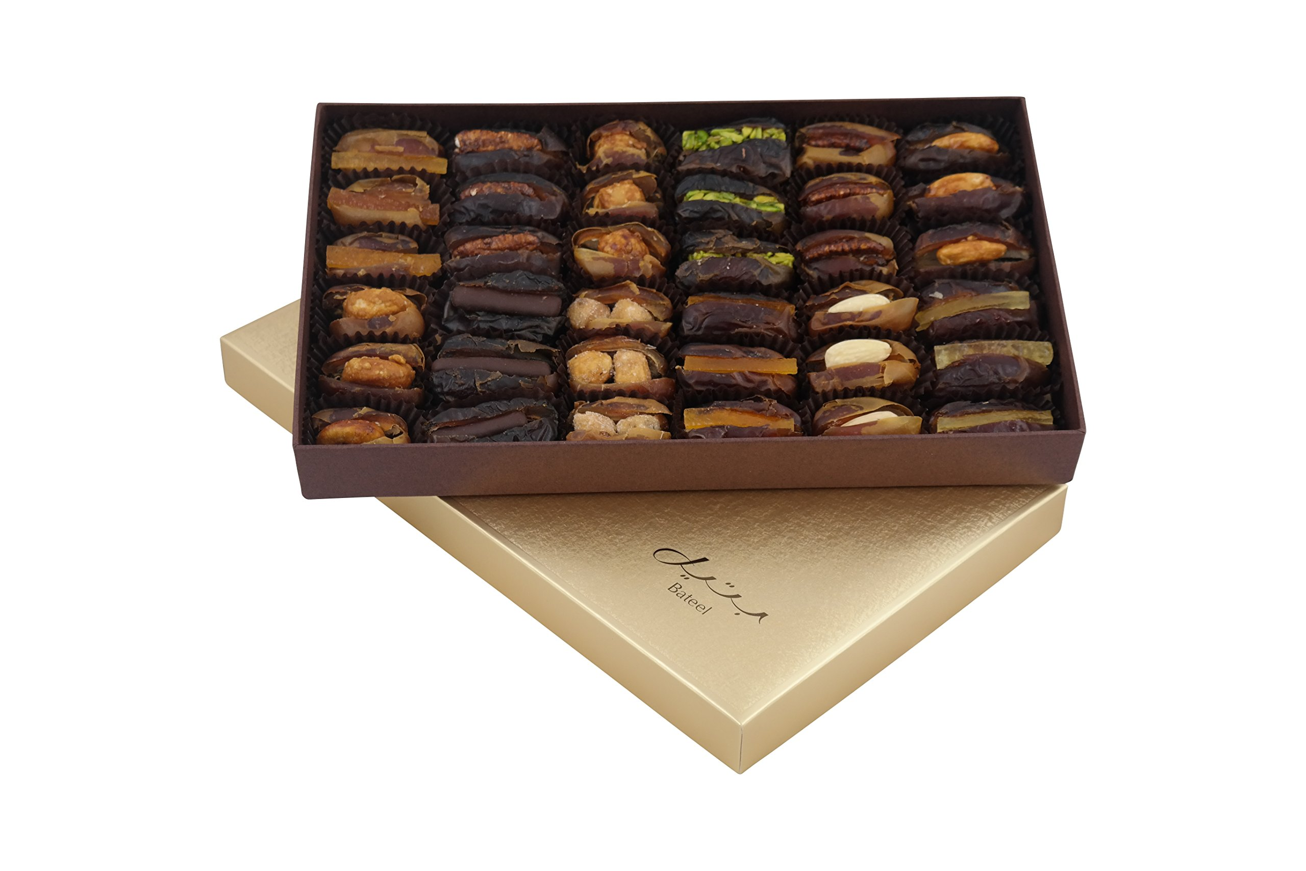Cassandra Rectangle Gift Box with Gourmet Filled Dates (36 Pieces)