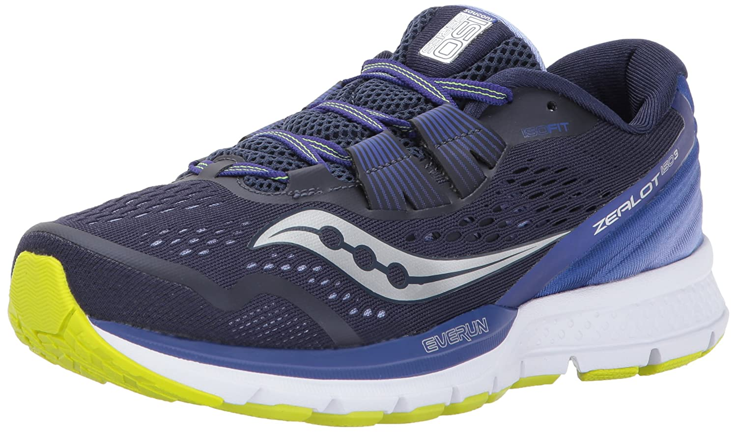 Saucony Women's Zealot Iso 3 Running Shoe B01N0TK58I 11 B(M) US|Navy Purple