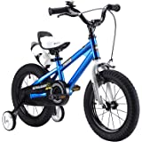 "ROYAL BABY FREESTYLE KIDS BIKES WITH STABILIZERS IN SIZE 12"" 14"" 16"" 18"" , RED, BLUE,GREEN,ORANGE,WHITE+WATER BOTTLE AND HOLDER."