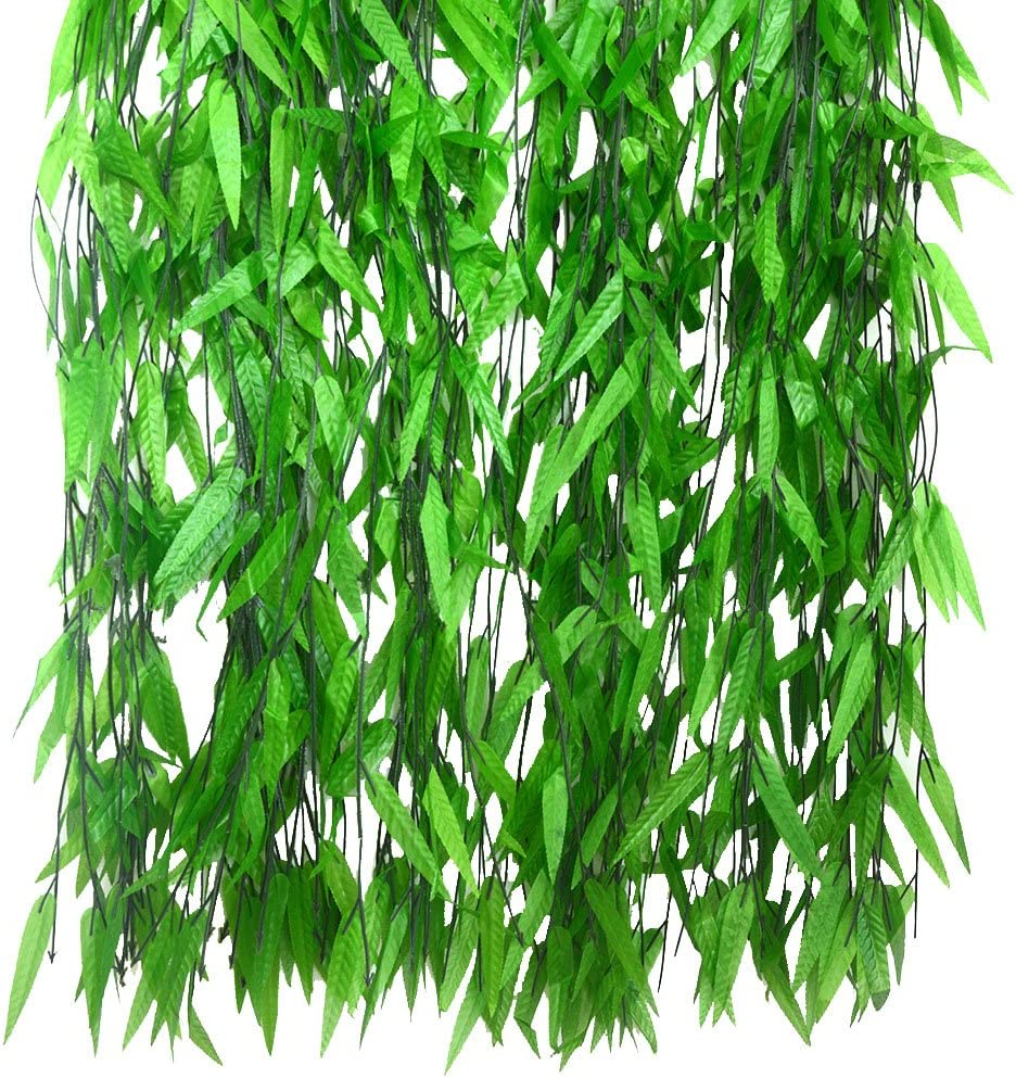 Bird Fiy 50 PCS 376 Feet Artificial Flower Greenery Wicker Rattan Vine Fake Foliage Leaf Flowers Plants Garland Garden Decoration