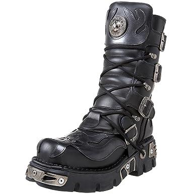 SilverSchwarz39 Stiefel New Silberblack Goth Schwarzamp; Punk Rock Eu Schuhe BootsMetal kPXiuZ