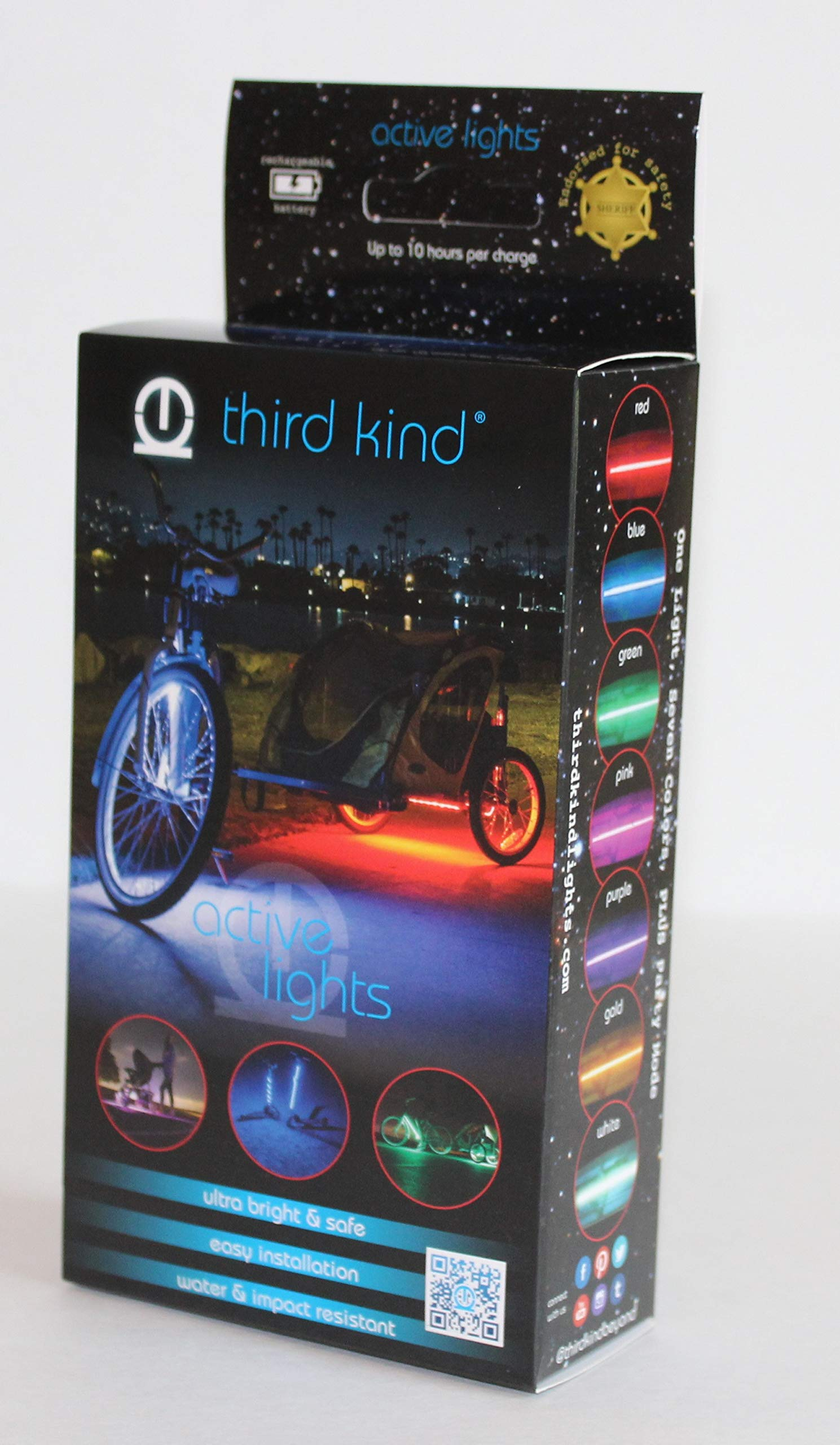 Third Kind Bicycle Lights. Safe, Fun and The only Lights endorsed by Police for Safety
