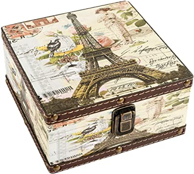 Amazon.com: waahome Cofre de madera caja: Home & Kitchen