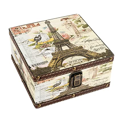 Amazon WaaHome Wood Jewelry Keepsake Storage Box Memory Boxes Magnificent Decorative Keepsake Memory Boxes