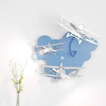 Kinderzimmer Lampe/blau / 3-flammig / GU10 bis 35W 230V / Holz ...