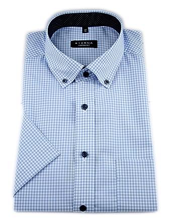Eterna Comfort Fit Business Hemd aus Baumwolle Royalblau