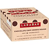 Larabar, Gluten Free Bar, Chocolate Chip Cookie Dough, Vegan (16 Bars)