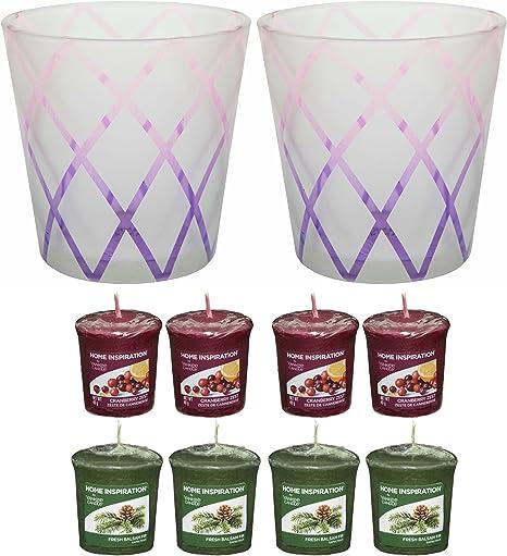 pas cher à vendre site web pour réduction officiel Yankee Candle Lot de 2 bougeoirs motif fleur de lotus pour ...