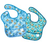 Bumkins Disney Finding Nemo SuperBib, Baby Bib, Waterproof, Washable, Stain and Odor Resistant, 6-24 Months, 2-Pack