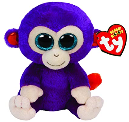 Amazon.com  Ty Beanie Boos Grapes The Purple Monkey Plush  Toys   Games 1f7d24326ca