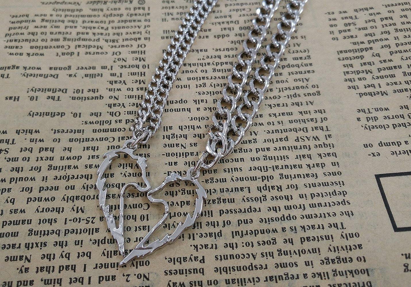 SENFAI Tribal Wolf Statement Pendant Necklace 18 Couples Jewelry Necklaces