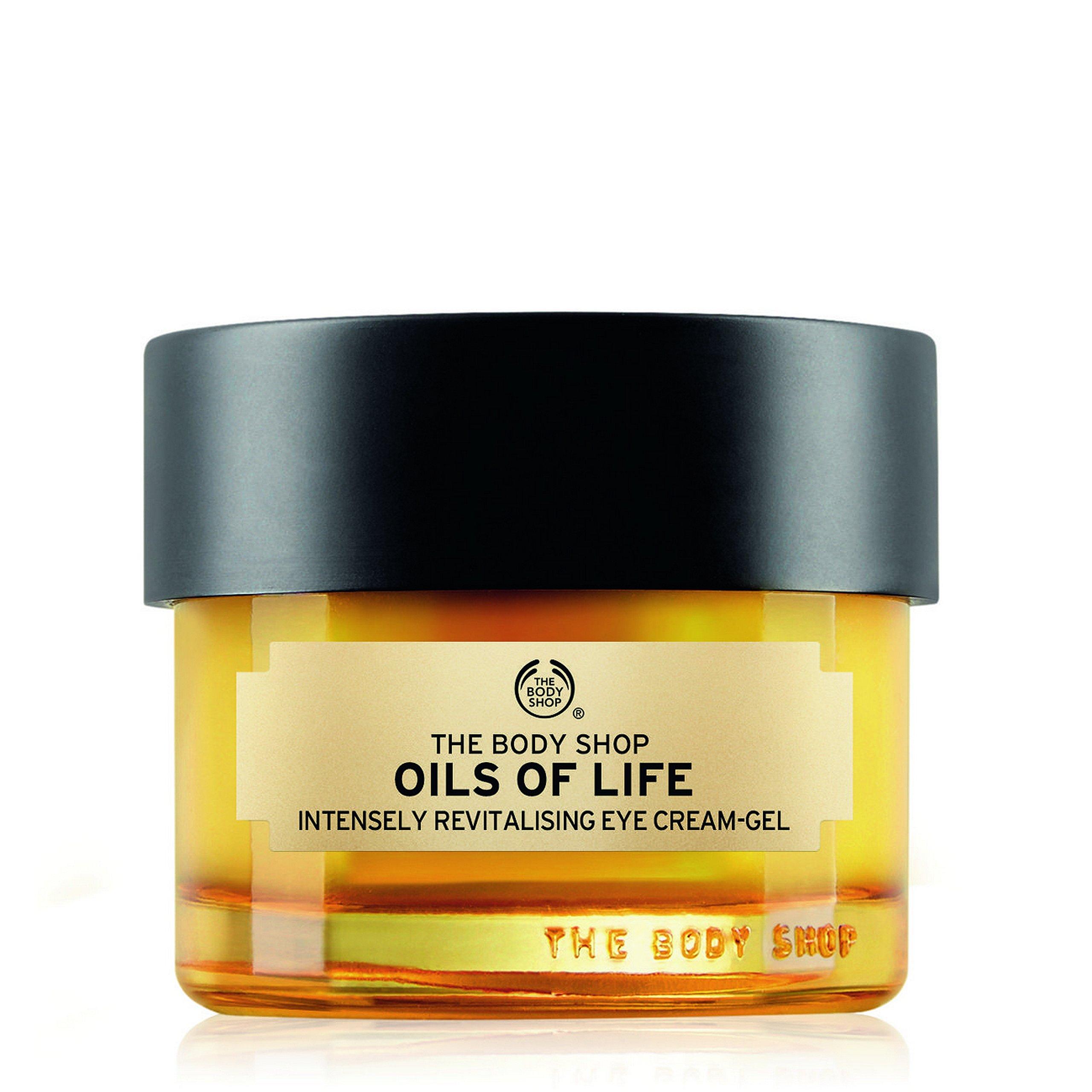 The Body Shop Oils of Life Intensely Revitalising Eye Cream Gel, 0.69 oz.