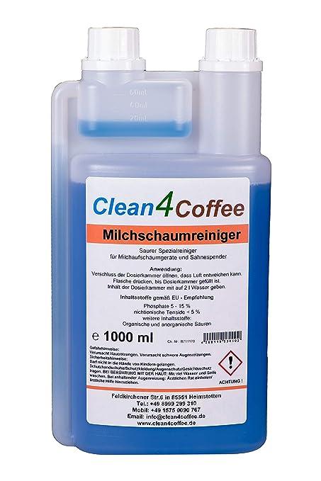 Limpiador de espuma de leche, limpiador de cappuccino, limpiador de crema para máquinas de café, limpiador para cafeteras de cápsulas, dosificador de ...