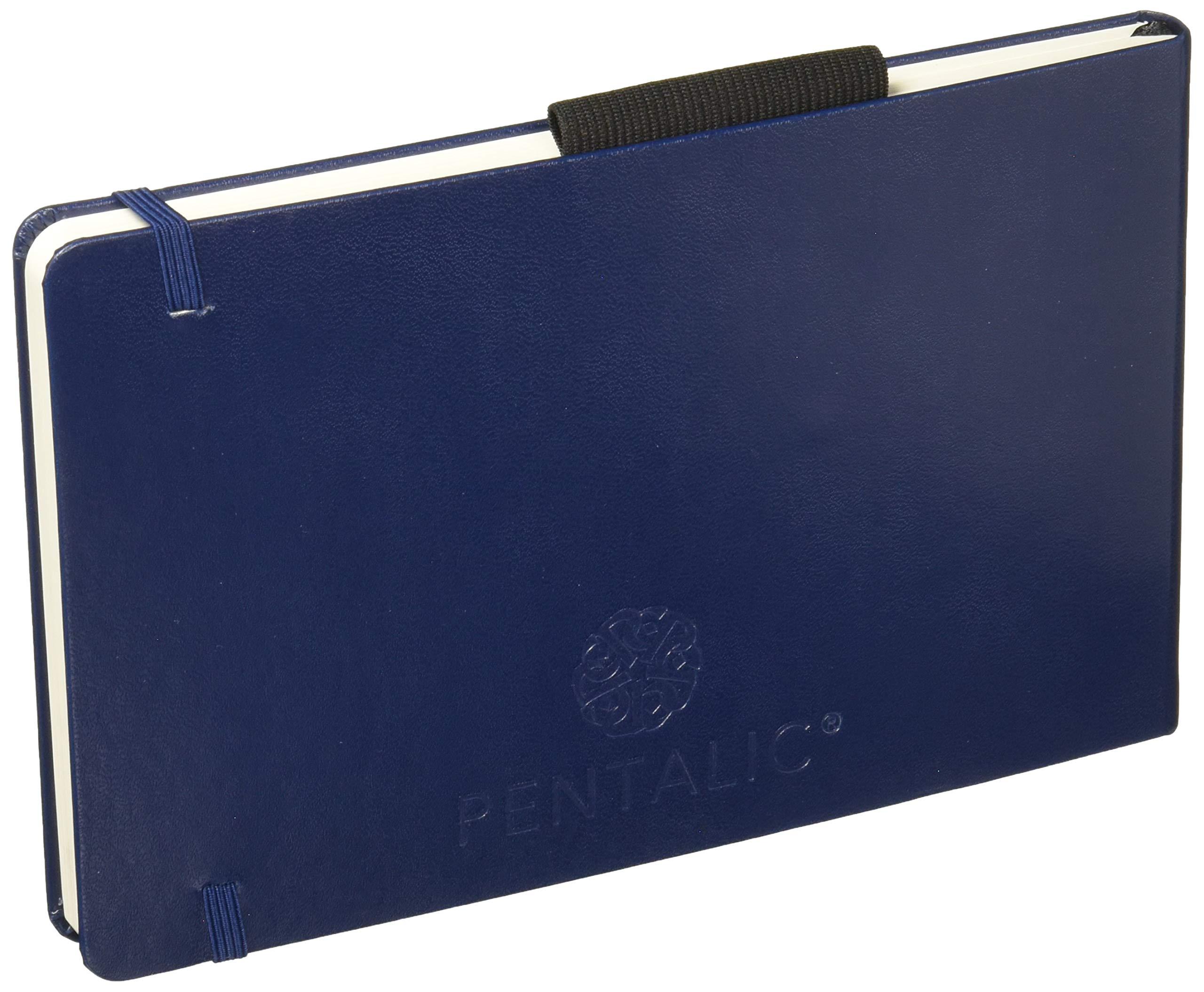 Pentalic 5'' x 8'' 140 lb. (300 gsm) AF Aqua Journal 48 Page Book