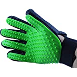 Pet Grooming Glove by Serene Pet: Deshedding Tool for Dogs and Cats Large and Small, Gentle and Efficient Massage for Long and Short Coats, Premium Quality Mitt, Soft Comb to Brush Away Shedding Fur