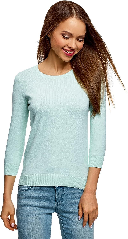oodji Ultra Donna T-Shirt in Cotone Basic