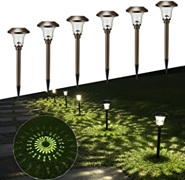 6//8 PACK Outdoor Solar Led Pathway Lights Walkway Garden Landscape Path Lighting