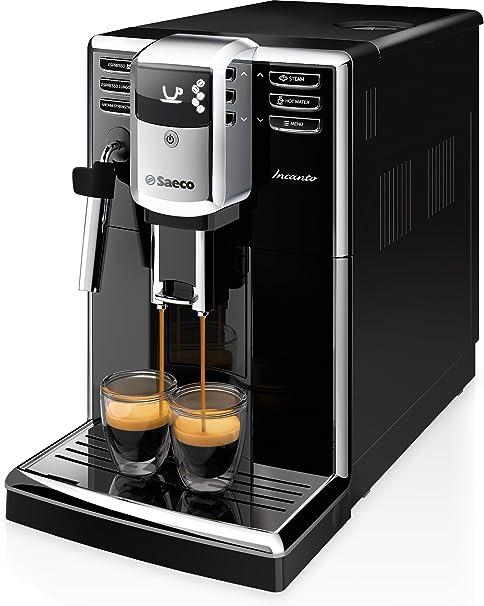 Saeco Incanto - Cafetera espresso súper automática, con espumador de leche clásico, color negro (importada): Amazon.es: Hogar
