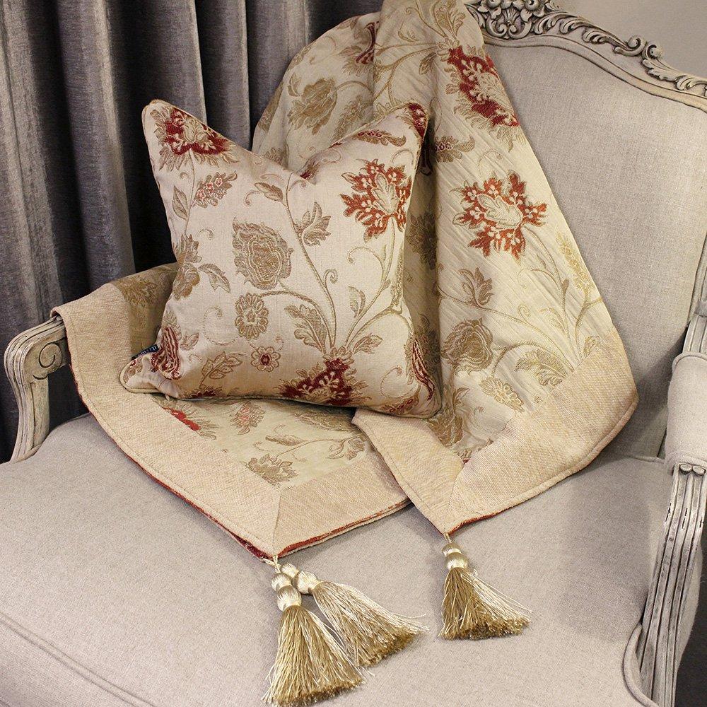 Paoletti - Manta Decorativa para sofá, Silla o Cama, Dorado: Amazon.es: Hogar