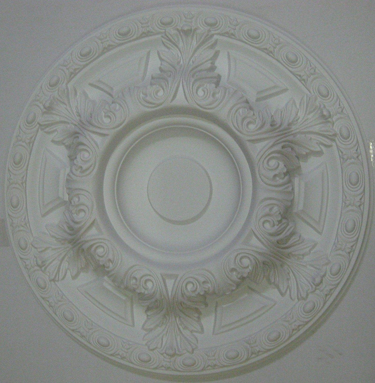 24 Inch Ceiling Medallion White Primed Polyurethane 23 5/8 Inch Diameter By Designer's Edge Millwork #D552