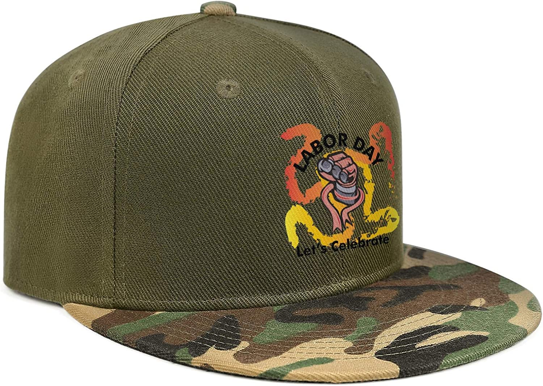 Newpz Labor Day Let/'s CelebrateUnisexCool Versatile Comfort Cap Camouflage Snapback Cap