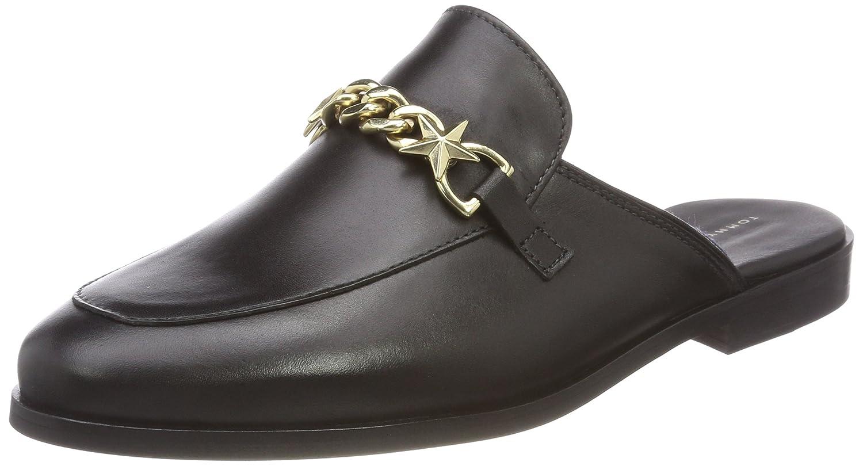 Tommy Hilfiger Feminine Slip On Loafer Chain, Mocassini DonnaNero (Black 990)