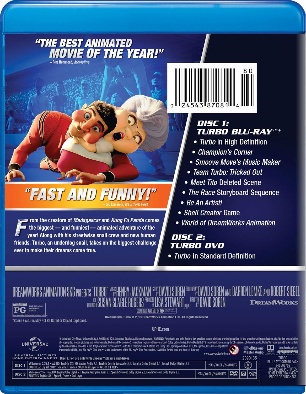 Turbo 2 Blu-Ray Edizione: Stati Uniti Reino Unido Blu-ray: Amazon.es: Michael Pe a, Ryan Reynolds, Paul Giamatti, Michael Peña, Luis Guzman, Bill Hader, ...