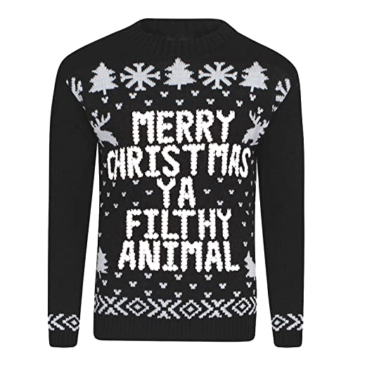 Amazoncom Xmas Jumper Merry Christmas Ya Filthy Animal Ladies