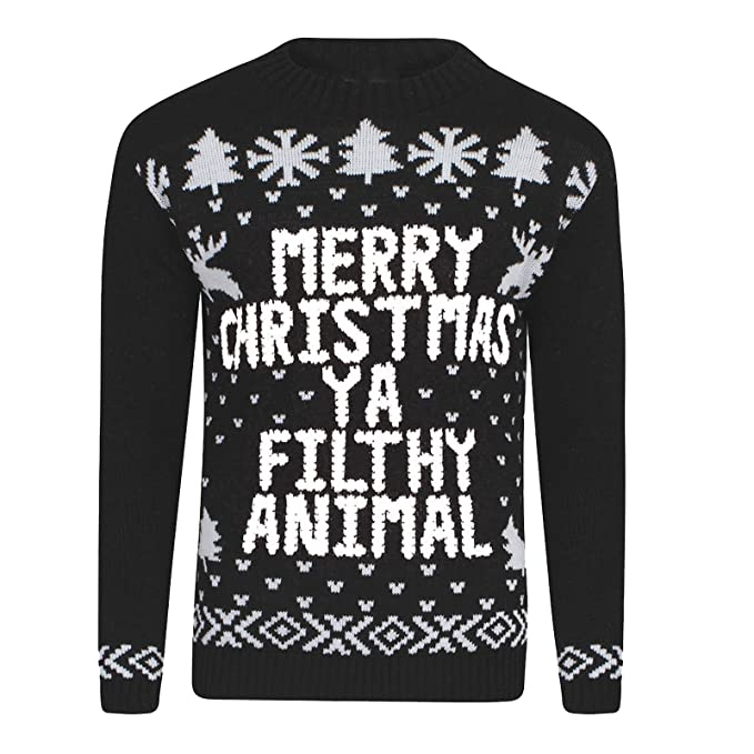 Xmas Women Jumpers Ya Filthy Animal Ladies Sweater Christmas Novelty
