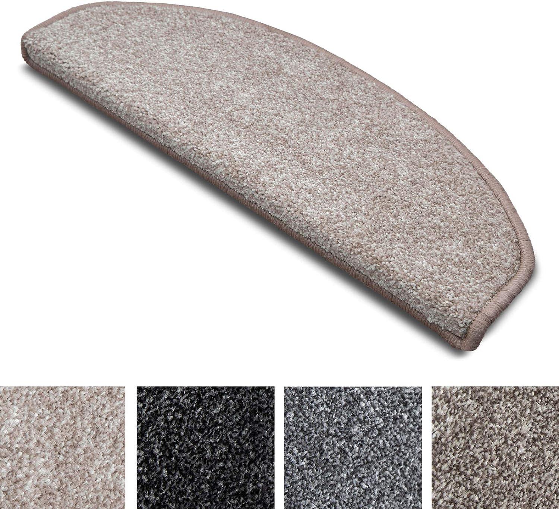 Set da 15-65x23.5 cm Copri Combinabili con Tappeti e Passatoie in Vari Colori e Misure Gradini Antiscivolo ad Uso Intensivo Beige Mezzaluna Tappetini per Scale Interne