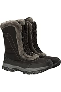 0e48f16df Mountain Warehouse Ohio Womens Snow Boots - Waterproof Ladies Winter Shoes,  Textile Upper,…