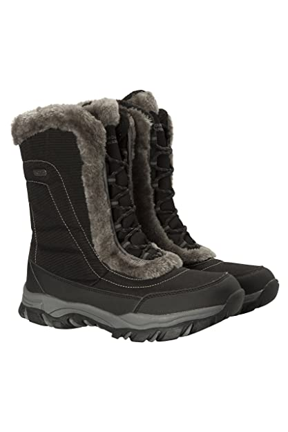 efcbb2f8634 Mountain Warehouse Ohio Womens Winter Snow Boot - Ladies Warm Shoes Black 6  M US Women