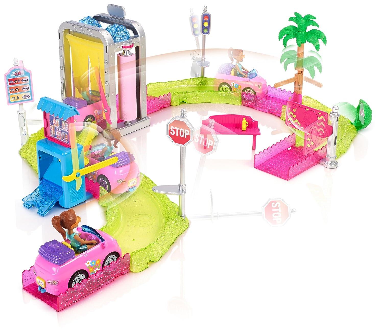 Amazon.es: Barbie On the go, Túnel de lavado, muñeca con accesorios (Mattel FHV76): Juguetes y juegos