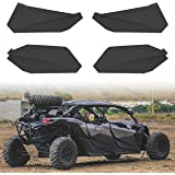 Lower Doors Kit for Can-Am X3 Max, SAUTVS Lower Door Inserts Panels with Built-in Metal Frame for Can Am Maverick X3 Max RS D