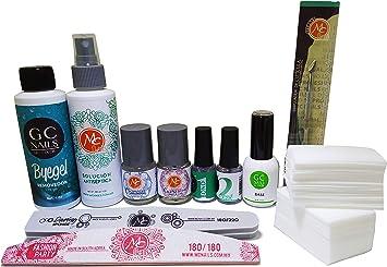 Gc Nails Kit Basicos Aplicacion De Gel Semipermanente Uñas De Gel Uñas Acrilicas Amazon Com Mx Belleza