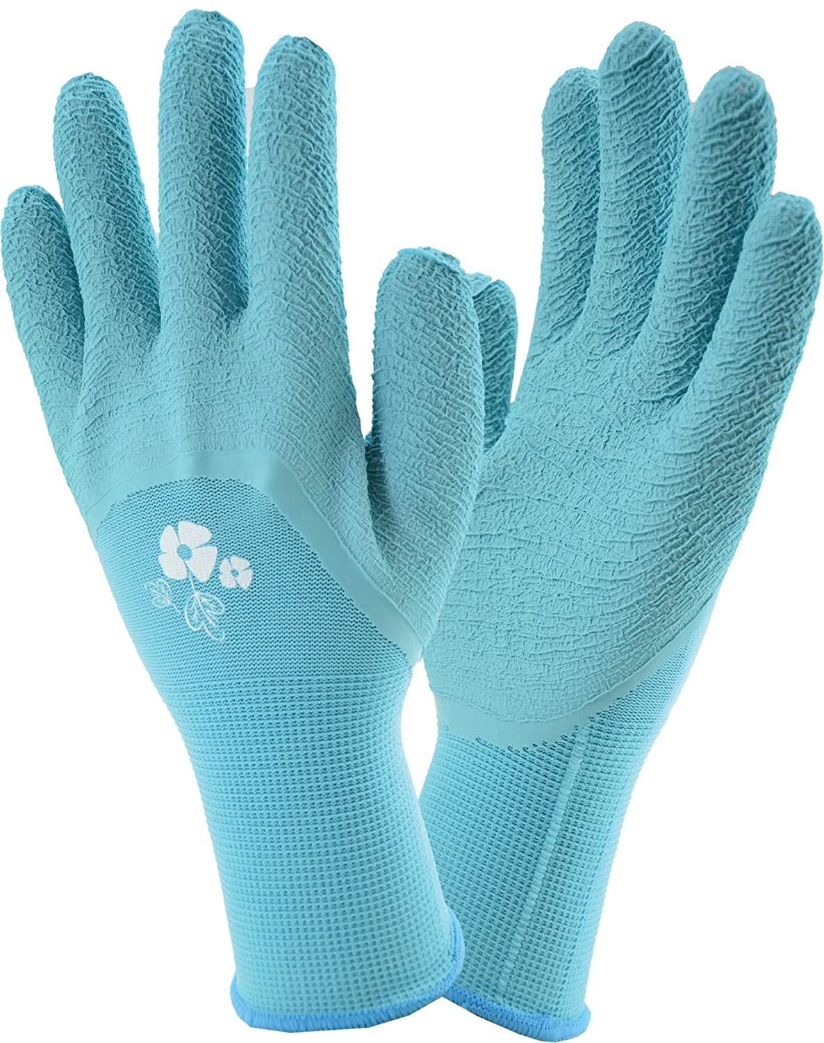 West Chester Miracle-Gro MG30851 Stretch Knit Gardening Gloves with Latex Coated Palm: Women's Small/Medium, 1 Pair