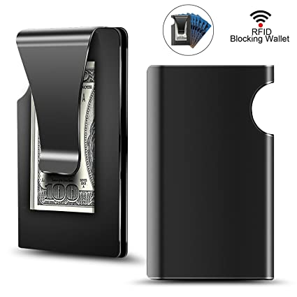 40c44b6e9c0e Minimalist Carbon Fibre Slim Wallet, Slim Wallet & RFID Blocking Front  Pocket Wallet,Minimalist Wallet for Men and Women(2018 New Version) ...
